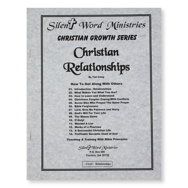 Christian Relationships manual image
