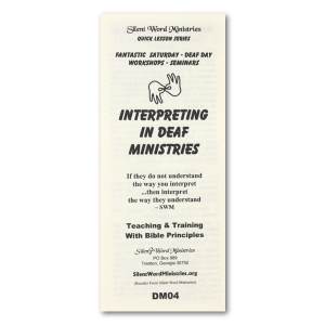 Interpreting pamphlet