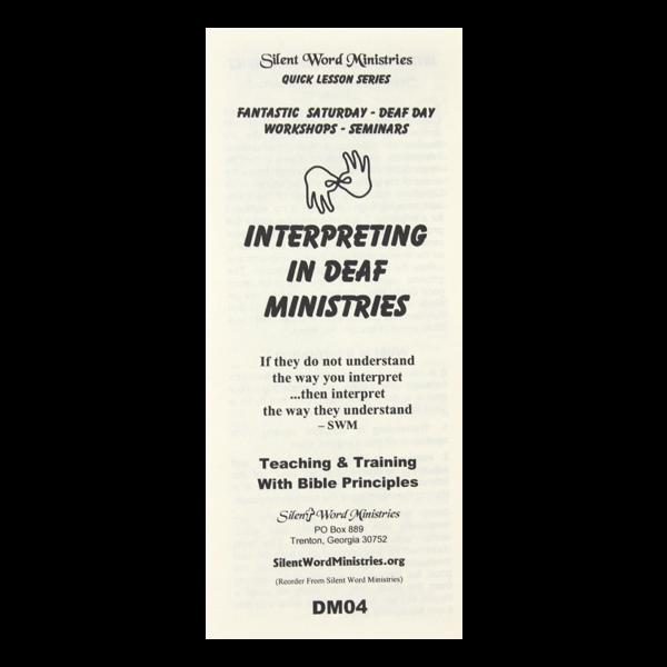Interpreting pamphlet