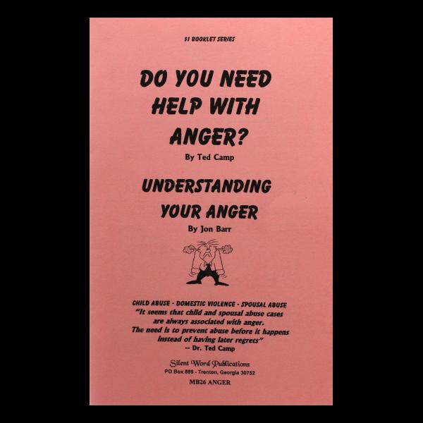 Help Understanding Anger booklet