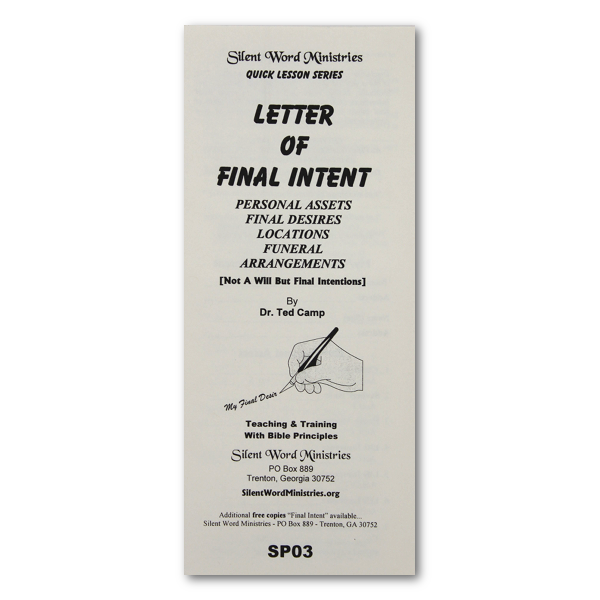 Letter of Final Intent image