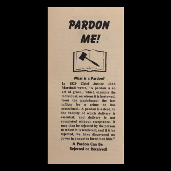 Pardon Me tract
