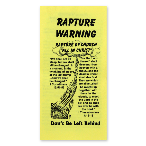 Rapture Warning tract