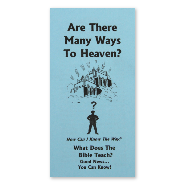 Are There Many Ways to Heaven? tract