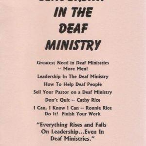 Leadership in Deaf Ministry booklet image