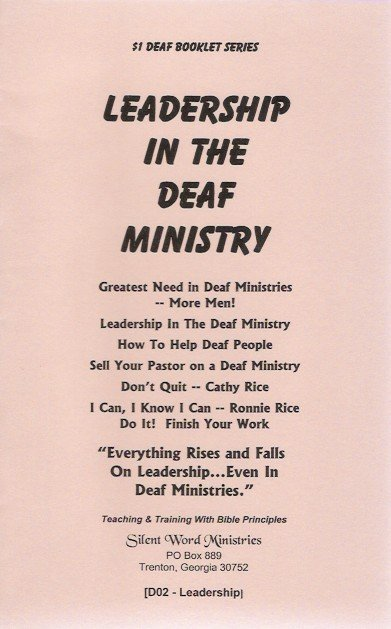 Leadership in Deaf Ministry booklet image
