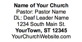 Sample Church Ad