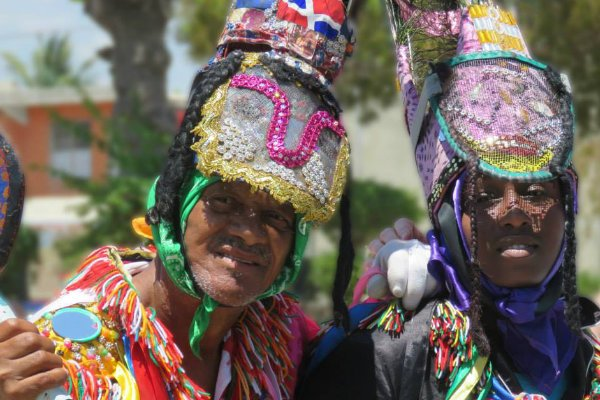 Dominican Republic people in colorful costume