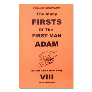 Many Firsts of Adam booklet