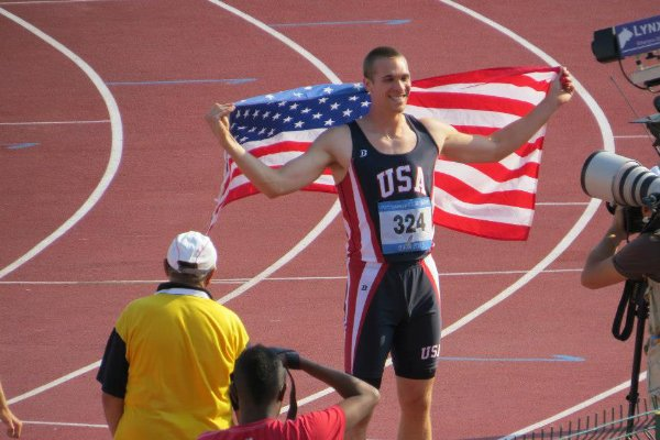 Deaflympic athlete from America