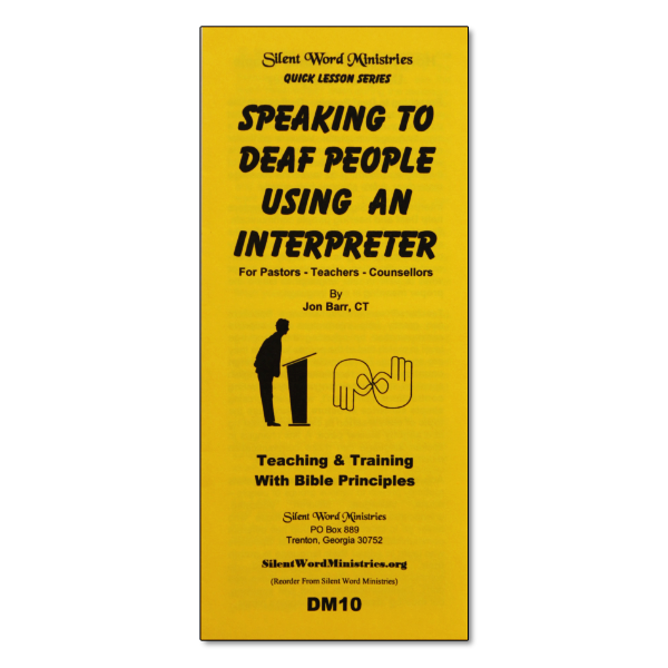 Speak Using an Interpreter pamphlet