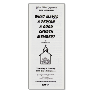 What Makes a Good Church Member pamphlet