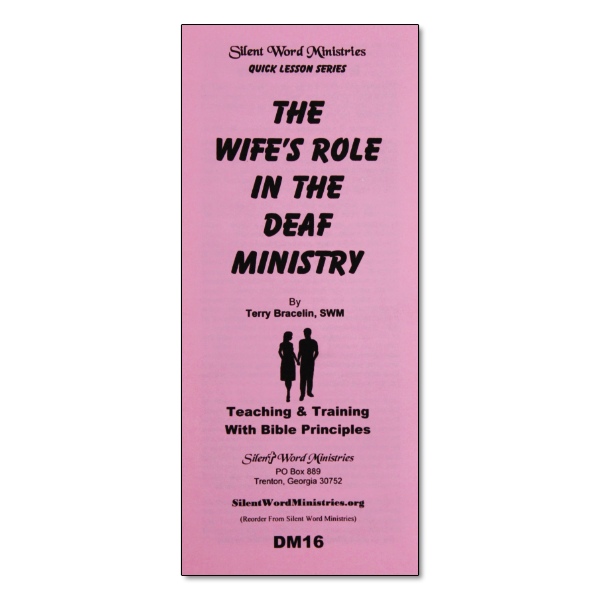 The Wife's Role in Deaf Ministry pamphlet