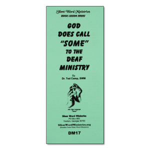 God Does Call Some to Deaf Ministry pamphlet