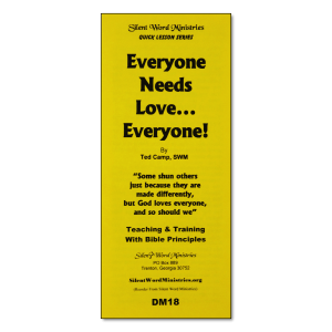 Everyone Needs Love pamphlet