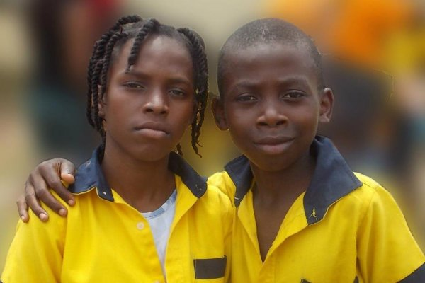 Children in Gabon Africa