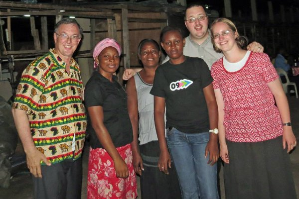 David Bennett with the Stuarts in Gabon