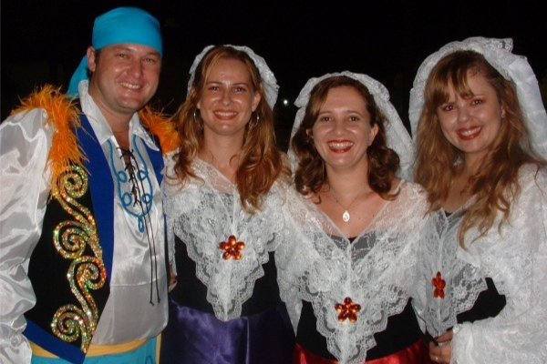 People in Foreign Costume