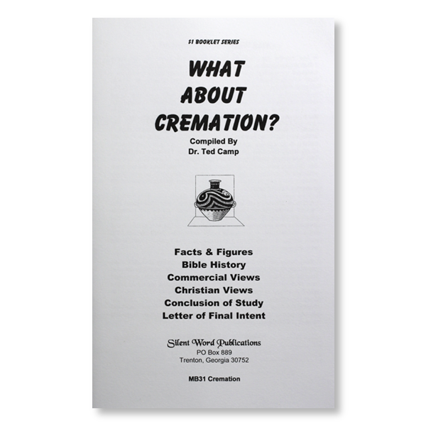 What About Cremation booklet