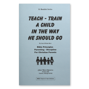 Train Up A Child booklet