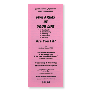 5 Areas of Your Life pamphlet