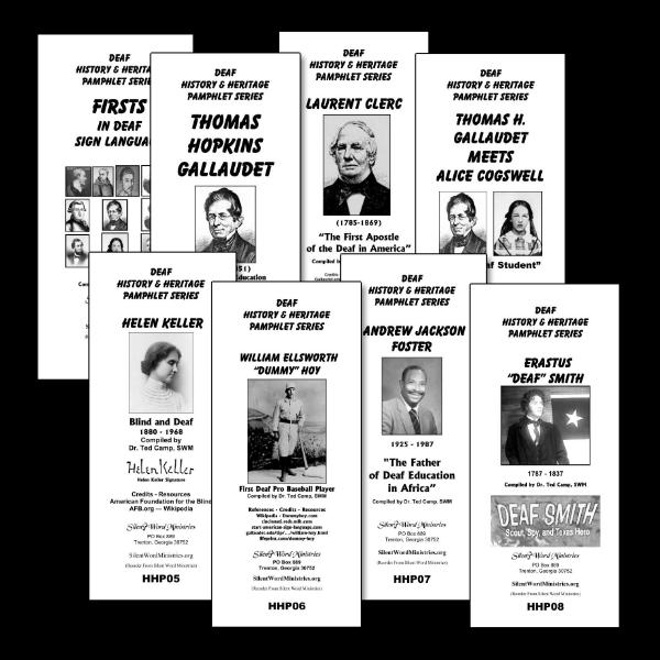 Image of Deaf History pamphlets