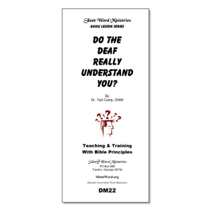 Do the Deaf Understand You? pamphlet image