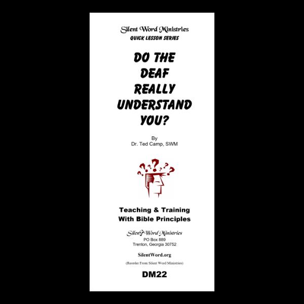 Do the Deaf Understand You? pamphlet image