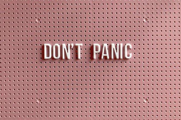 Peace or Panic