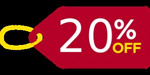 20 PCT Off