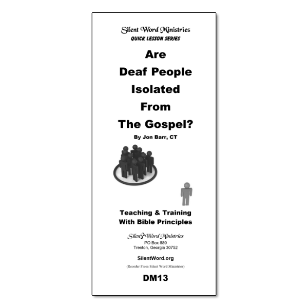 Are Deaf People Isolated pamphlet image