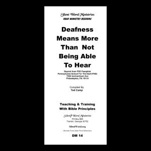 Deafness Means More pamphlet image