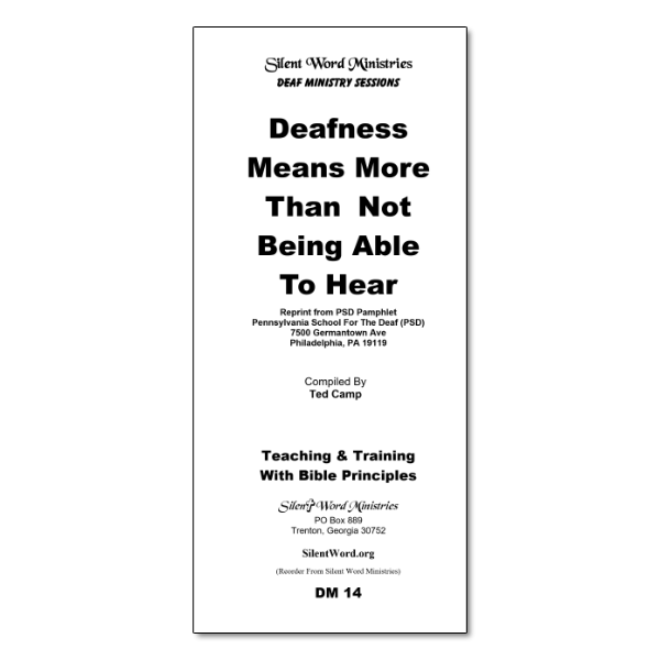 Deafness Means More pamphlet image