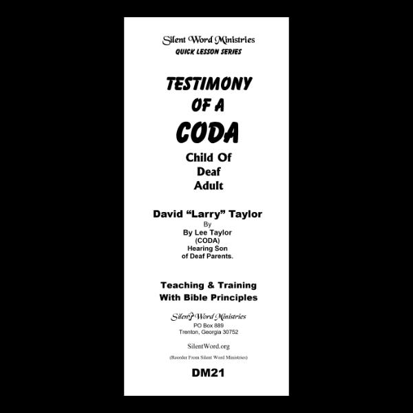 Testimony of a CODA pamphlet image