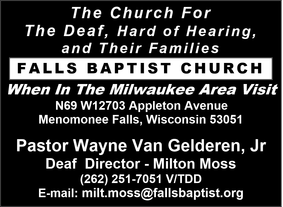 Falls Baptist Church Ad