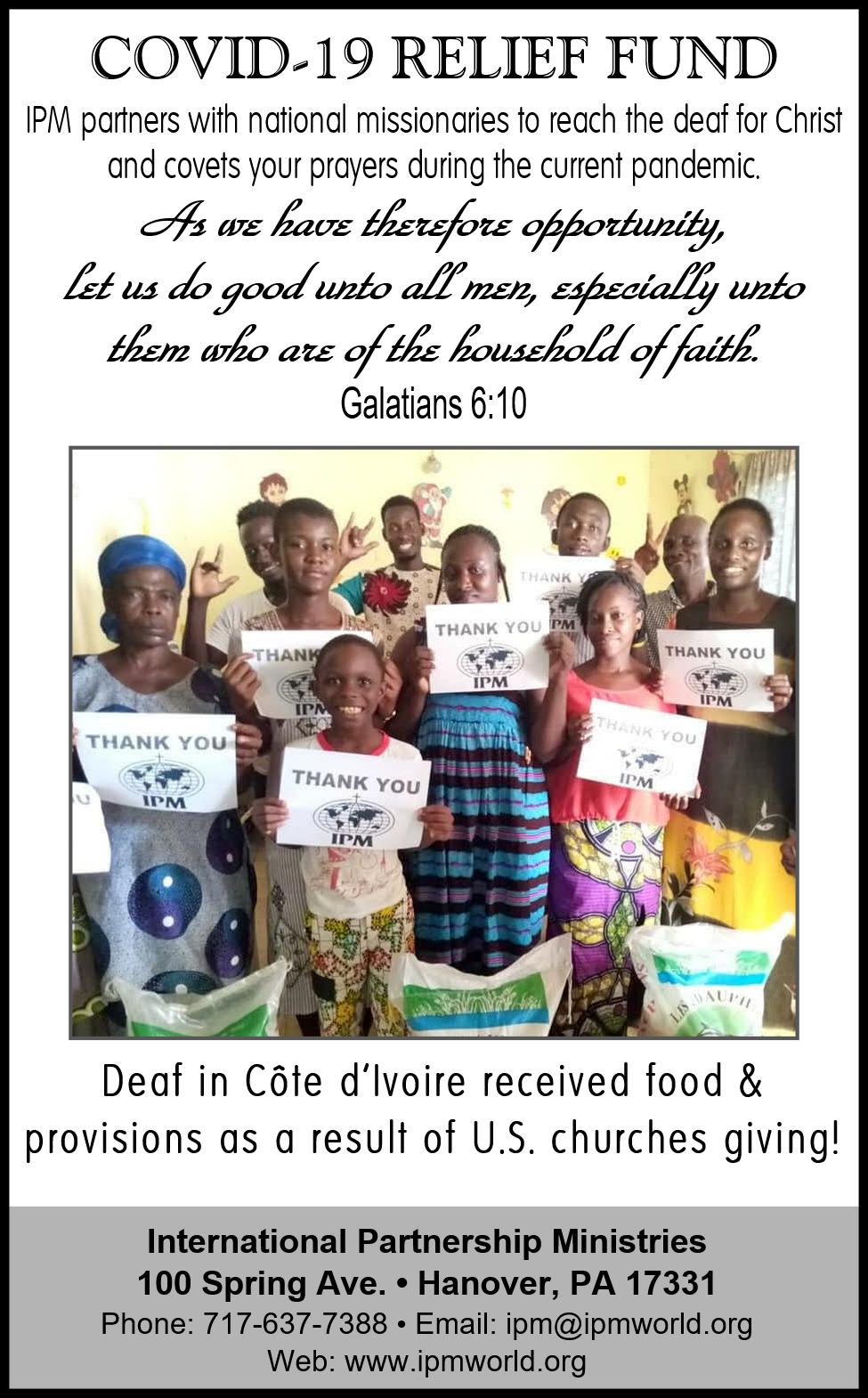 Covid Relief Fund Ad