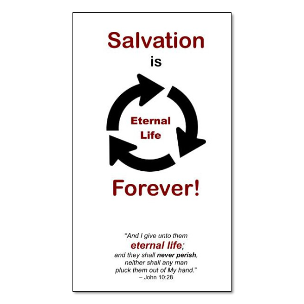 Salvation is Forever tract image