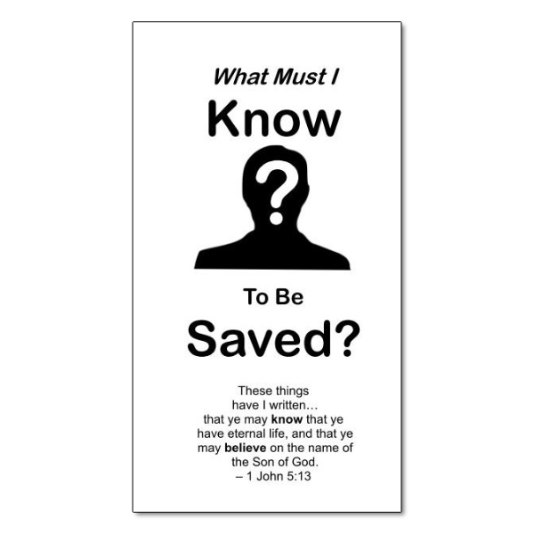 What Must I Know to be Saved? tract image