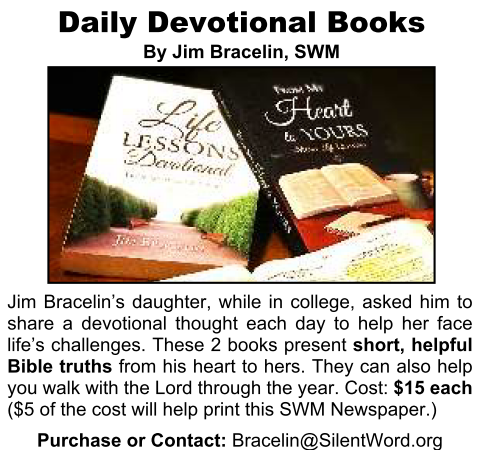 Ad for Jim Bracelin's Devotionals