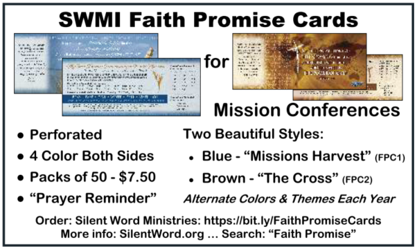 Ad for Faith Promise Cards