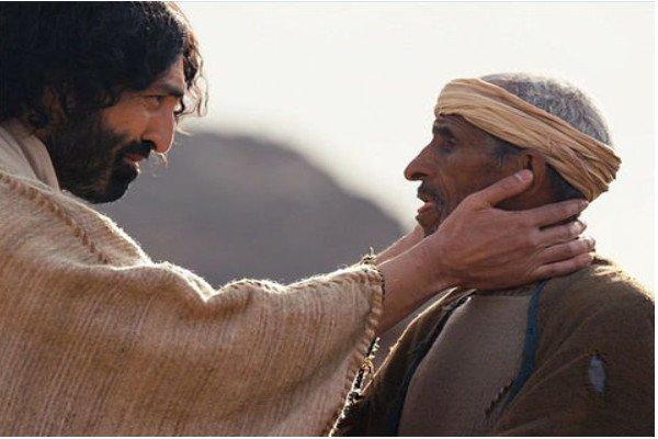 Jesus and deaf man