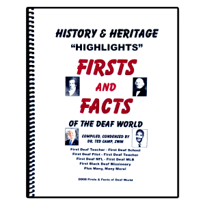 Firsts & Facts of the Deaf World book