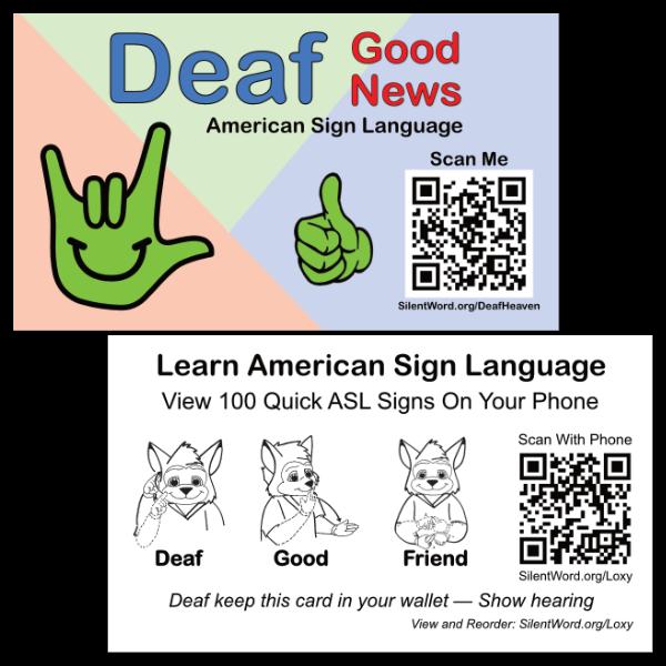 Deaf Good News Tract