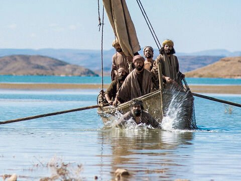 disciples in a boat