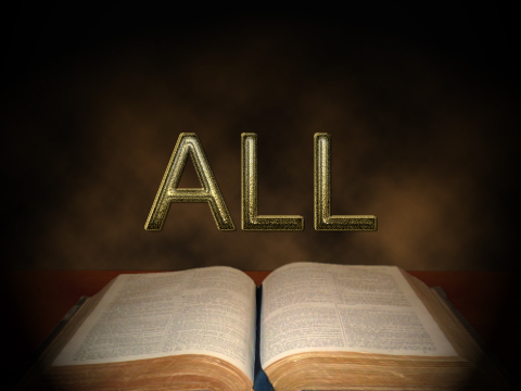 Bible with word ALL